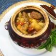 Мясо в горшочках по-кавказски