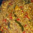 Традиционная кухня Вьетнама. Рис с овощами