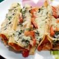 Традиционная кухня Италии. Каннеллони с баклажанами.