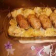 Мясные зразы с черносливом и картофельный гарнир