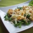 Цветная капуста с сыром и шпинатом