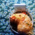 """Салат с копчёным окорочком и корейской морковью """"Лошадка"""""""
