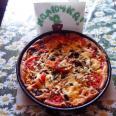Открытый пирог-пицца из наливного теста